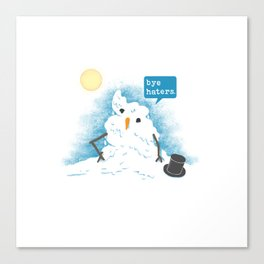 Snow Body Loves Me Canvas Print