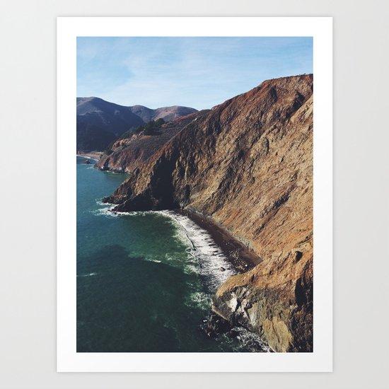 San Francisco Beach. Art Print