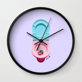 Bum Drops Wall Clock
