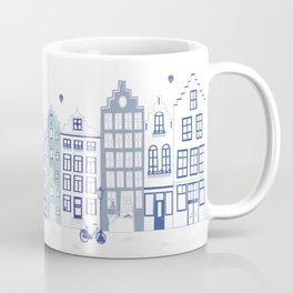 Dutch canal houses from Amsterdam in delft blue Coffee Mug