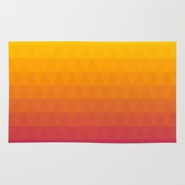 Pink and Yellow Ombre Rug