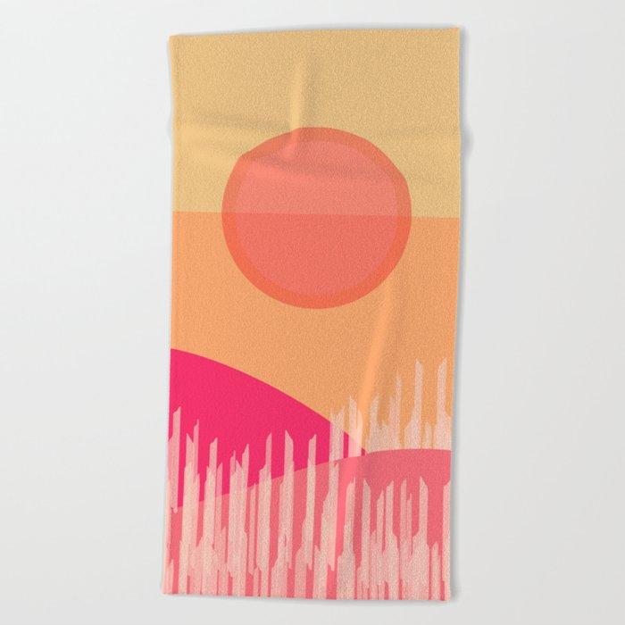 Summer Time 6 Beach Towel