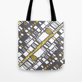 Diagonal layers yellow Tote Bag