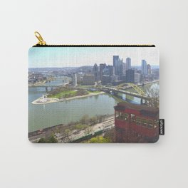 Downtown Pittsburgh point and incline 32 Carry-All Pouch