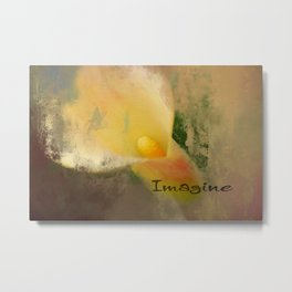Imagine Calla Lily Art Metal Print