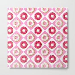Pink and White Donut Heaven | Pop Art Metal Print