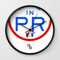 puerto rico Wall Clocks featuring Made in PR - Puerto Rico by DCMBR - December Creative Group