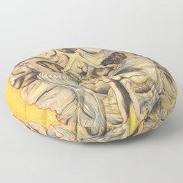Brain section showing visual system pathway Floor Pillow