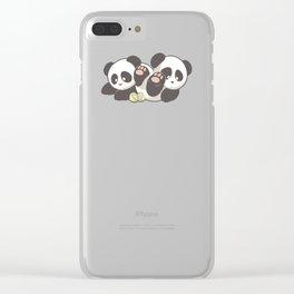 Lemon Pandas Clear iPhone Case