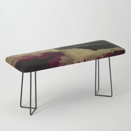 Black Honey - resin abstract painting Bench