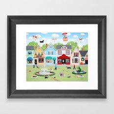 Dog Lovers Lane Framed Art Print