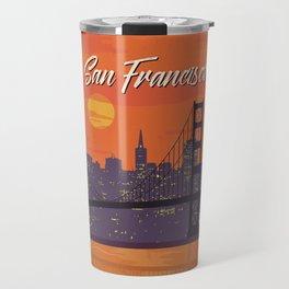 San Francisco vintage poster travel Travel Mug