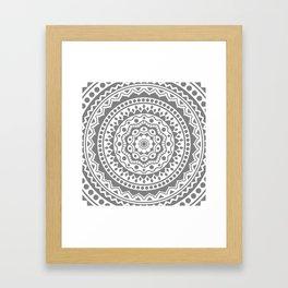 Mandala #3 (gray) Framed Art Print