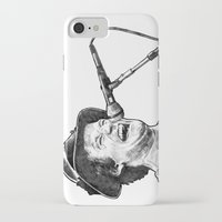 robin williams iPhone & iPod Cases featuring williams by BzPortraits