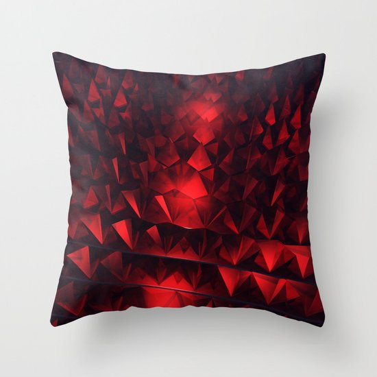 Ruby Abstract Throw Pillow