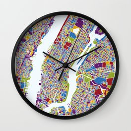 NEW YORK color map Wall Clock
