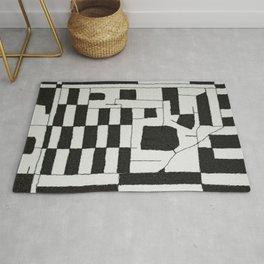 Black & White Map Rug