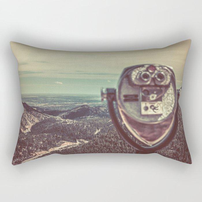 Wanderlust Vintage Tourist Binoculars Rectangular Pillow