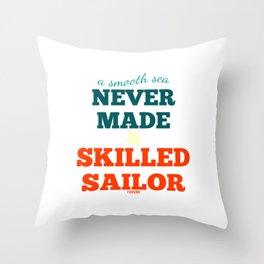 Sailing Boat Captain Gift Throw Pillow