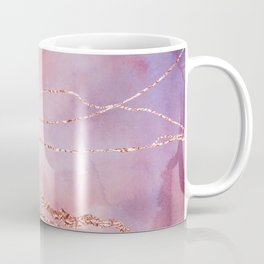 Blush and Purple Sky with Rose gold flashes Coffee Mug
