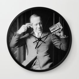 Death or Alcohol - Ernie Hare - Prohibition Photo Wall Clock