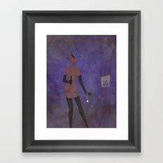 BAD KITTY Framed Art Print