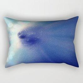Magnificent Breast Blue Bokeh Sparkle Rectangular Pillow