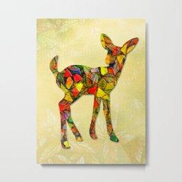 Animal Mosaic - The Fawn Metal Print