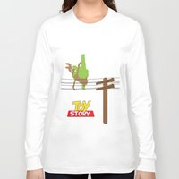 toy story Long Sleeve T-shirts featuring Toy Story - Falling With Style by Gary Wood
