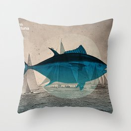 Northern Bluefin Throw Pillow
