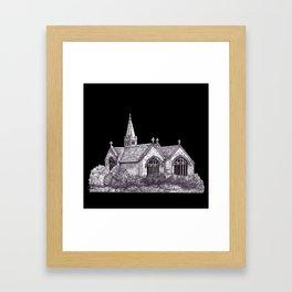 All Saints Parish Church (on black( Framed Art Print