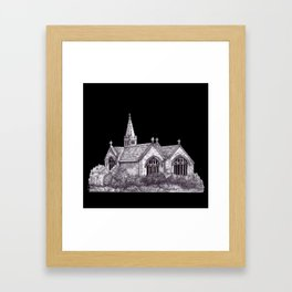 All Saints Parish Church (on black( Framed Art Print