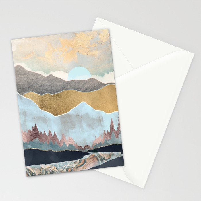 Winter Light Stationery Cards