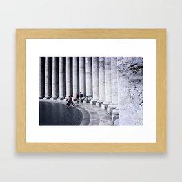 Vatican Pillars Framed Art Print