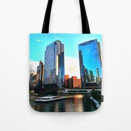 Chicago Riverwalk Tote Bag