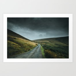 Road into the mountains Art Print
