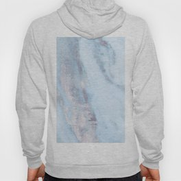 Light Blue Gray Marble Hoody