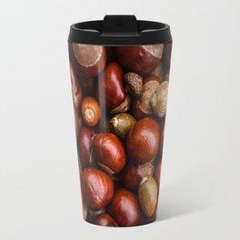 Castanea Chestnuts Nuts pattern Travel Mug