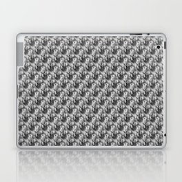 Floral Black and White Laptop & iPad Skin