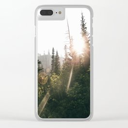 Sunny Forest II Clear iPhone Case