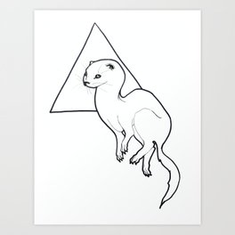 Triangle Otter Art Print