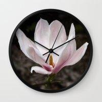 magnolia Wall Clocks featuring Magnolia by Guna Andersone & Mario Raats - G&M Studi