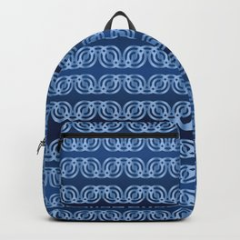 Chained Circles in blue Backpack