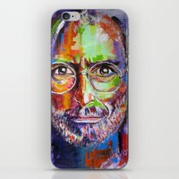steve jobs iPhone & iPod Skins featuring steve jobs by yossikotler