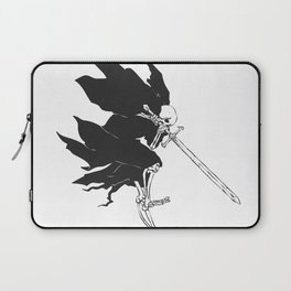 Grim reaper attack - medieval ghost - gothic skull - night demon - black and white Laptop Sleeve