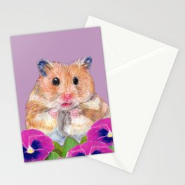 Cute Little Hamster Stationery Cards