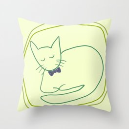 Mr. Sophisticated Cat Throw Pillow