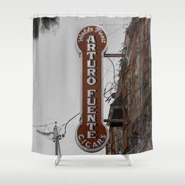 Vintage Neon Arturo Fuente Sign Ybor City Florida Shower Curtain