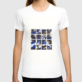 Black and Cobalt Blue Minimalist Mosaic Tiles T-shirt