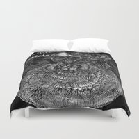 gothic Duvet Covers featuring Gothic Skeleton by AKIKO